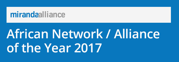 Miranda Alliance was named the African Network / Alliance of the Year 2017